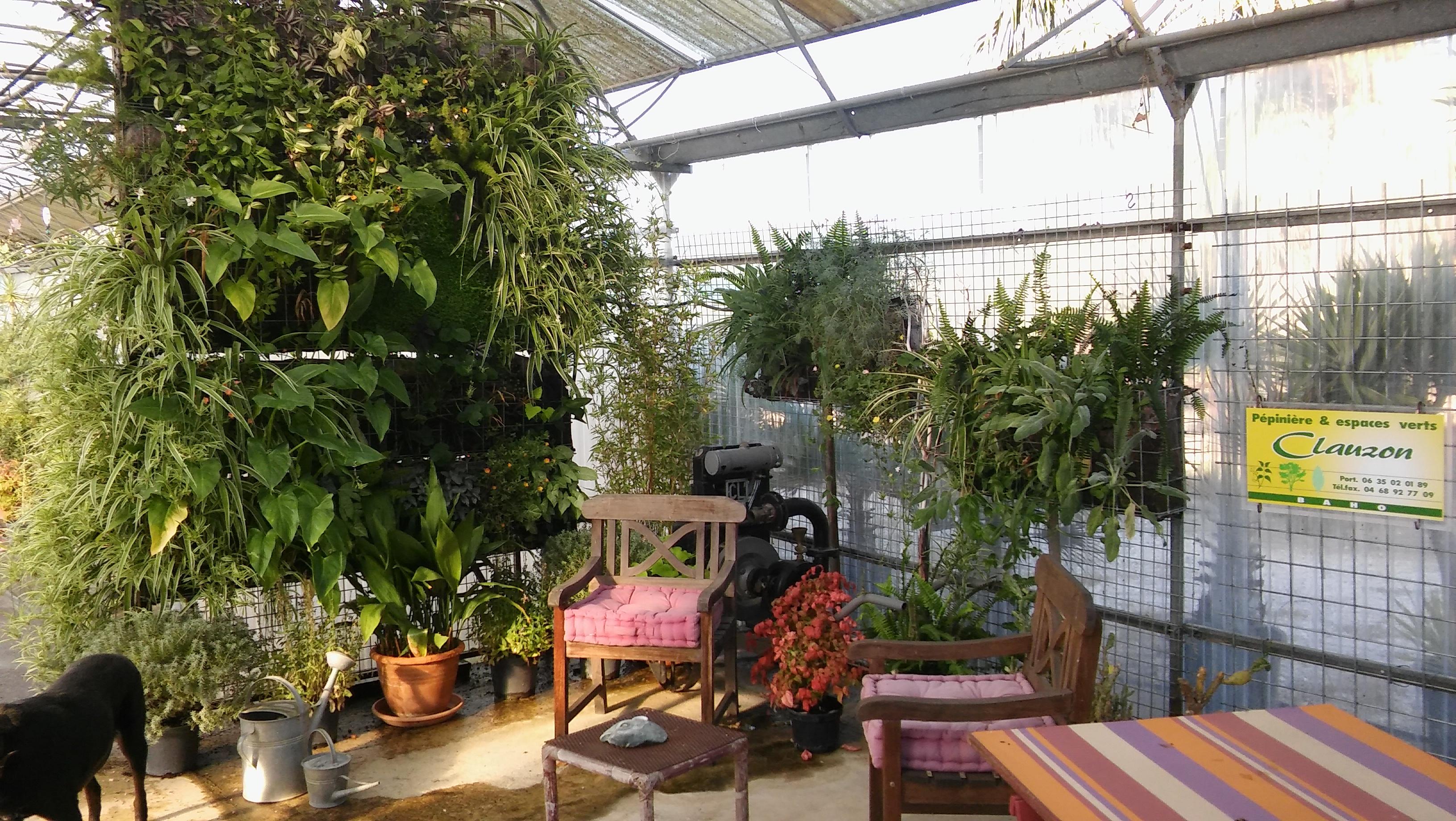 Mur végétalisé en exposition