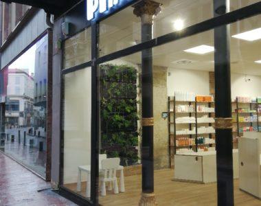 Un mur végétalisé pour la pharmacie La Real