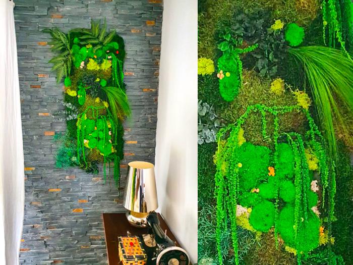 Tableau végétal stabilisé sur mesure réalisé par Bertrand Clauzon - Créateur paysagiste